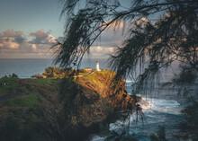 Kilauea Lighthouse In The Morning, Hawaii, Kauai
