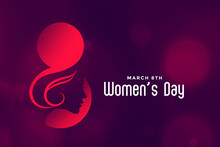Hapy International Womens Day Beautiful Background Design