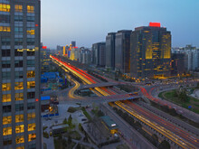 Elevated View Of The Second Ring Road In Beijing