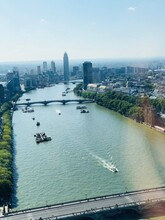 View To The City Of London From London Eye With The River And Boats