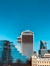 Buildings Of London City From Rivers Perspective