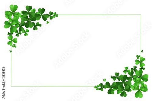 Photo st patricks day clover leaves frame background