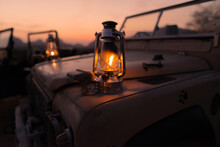 Gas Lamp On Land Rover