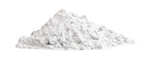 Huge Heap Of White Street Snow Isolated On White Background