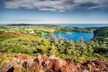 Over Looking A Hidden Lake On The Wild Atlantic Way, Ireland