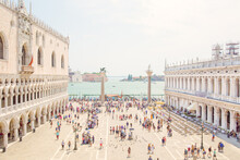 Overlooking The Piazza San Marco In Venice, Italy