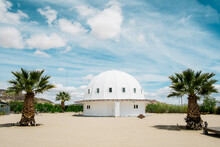 Outside View Of Integratron Dome In California