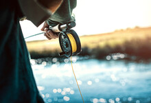 Reel And Rod Of Fly Fisherman