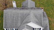Aerial Residential Roof And Chimney Inspection By Drone - Entire Roof