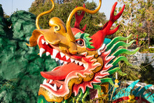 Golden Dragon Show On Parade In Chinese New Year Festival