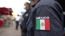 Police Officers On Duty In Mexico City, Mexico, To Ensure Peace And Public Order And To Fight The Threat Of Drug Cartels