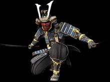 Software Rendering Japanese Armor Samurai