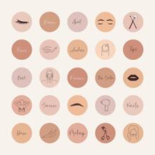 Beauty Salon Social Media Highlight Covers