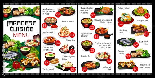 Canvas Print Japanese cuisine restaurant menu cover