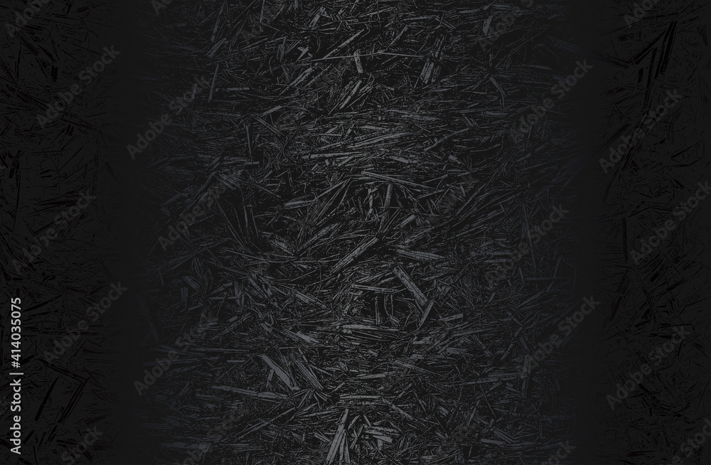Fototapeta Luxury black metal gradient background with distressed closeup leaf texture with streaks. Vector illustration