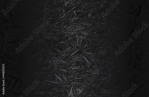 Fototapeta Luxury black metal gradient background with distressed closeup leaf texture with streaks. Vector illustration obraz