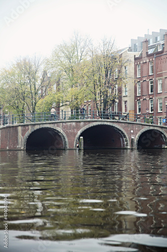 Fototapety, obrazy: A view from Amsterdam, houses and canals