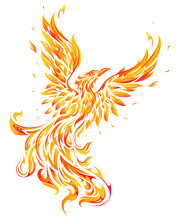 Phoenix As Fire Flame Bird Shape