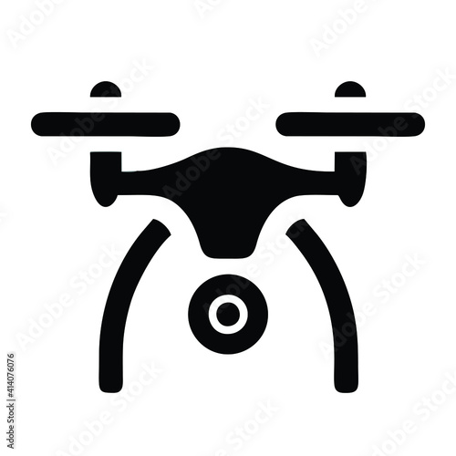Tablou Canvas drone icon isolated on white background from drone element collection