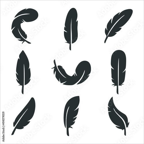 Fotografía feather icon isolated on white background