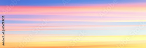 Fototapeta Panoramic view of the sunset sky, vector background obraz