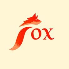 Logo Fox Initial F Style Design Modern Creative