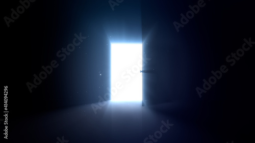 Fotografia Door Opening to the brilliant Future, way to Heaven and Success