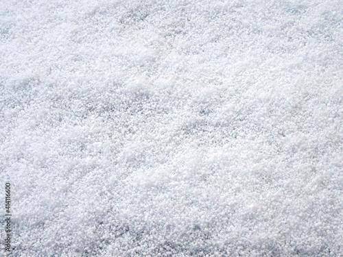 Obraz na plátně White snowfall and hailstones isolated background shot