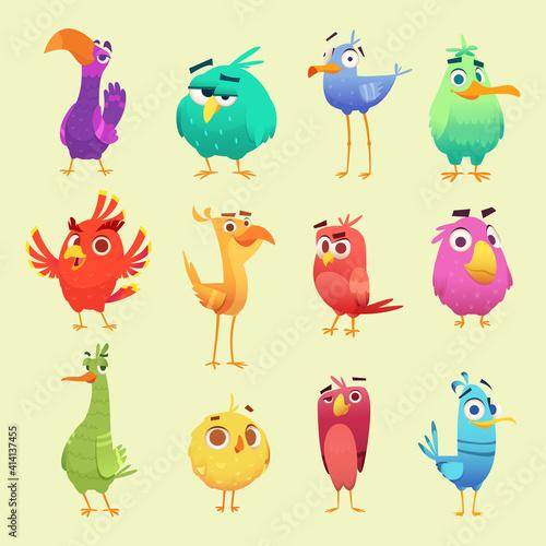 Fotografija Cute cartoon birds
