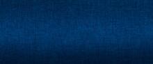 Dark Blue Fabric Texture Background Banner