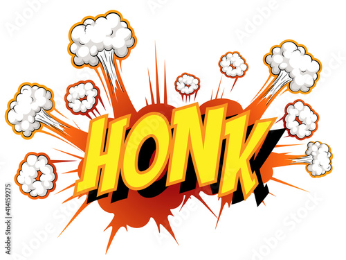 Comic speech bubble with honk text #414159275