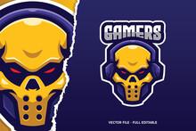 Yellow Skull E-sport Game Logo Template