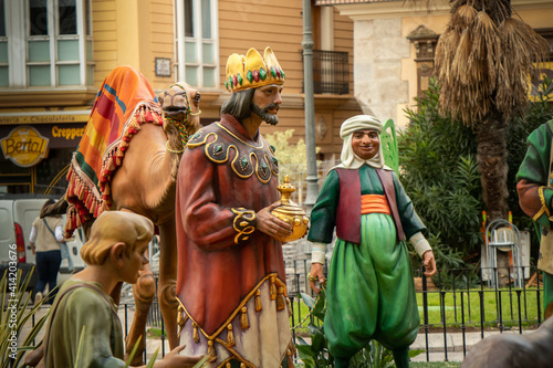 Fotografija The birth of Jesus Christ, a religious scene from Christianity