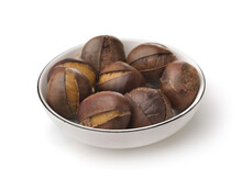 Roasted Chestnuts On Plate