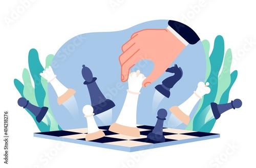 Chess business strategy Fototapete