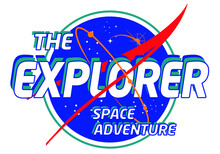 The Explorer Slogan Space Print Design For Tee And Poster
