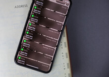 Phone Screen Displaying A List Of Received Spam Risk Phone Calls, Scam, Isolated