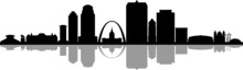 Saint LOUIS Missouri SKYLINE City Silhouette