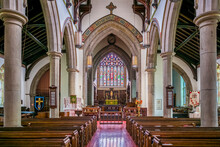 Canada, Central New Brunswick, Fredericton. Christ Church Cathedral Interior.