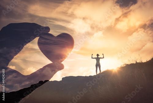 Fotografie, Obraz Love strength and power concept
