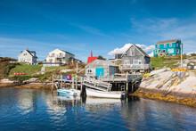 Canada, Nova Scotia, Peggy's Cove. Fishing Village On The Atlantic Coast.