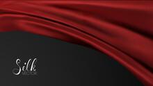 Red Textile Background. Luxury Background Template Vector Illustration. Award Nomination Design Element. Red Fashion Background.