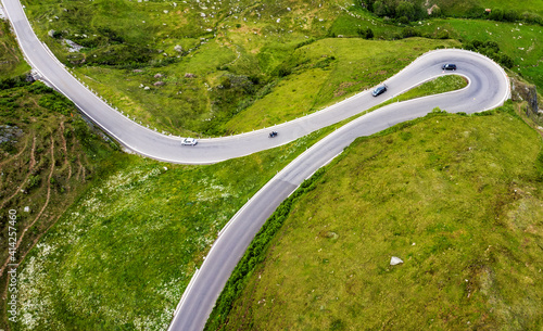 James Bond road, Furka pass, swiss Alps, Switzerland © Boris Stroujko