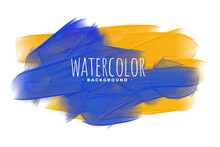 Watercolor Paint Texture In Yellow And Blue Shade