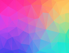 Geometric Low Poly Gradient Wallpaper.