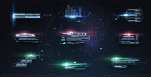 Futuristic Callouts Titles In HUD Style. Template Callout Bar Labels Box Digital Style. Futuristic User Interface Boxes Layout Template. Box Bars And Modern Digital Info Boxes Layout Templates Vector