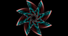 Abstract Mystical Futuristic Isoteric Swirl Logo Wingl On A Black Background