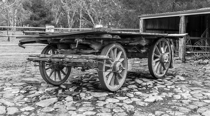 Fototapeta na wymiar hay cart, dray, vintage wagon, wagon