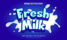Milk Choco Text Style Effect. Editable Fonts Vector Files