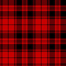 Tartan Plaid Pattern Winter In Black And Red. Herringbone Textured Seamless Check Plaid Graphic Background Art For Flannel Shirt, Skirt, Tablecloth, Scarf, Other Trendy Everyday Fashion Textile Print.